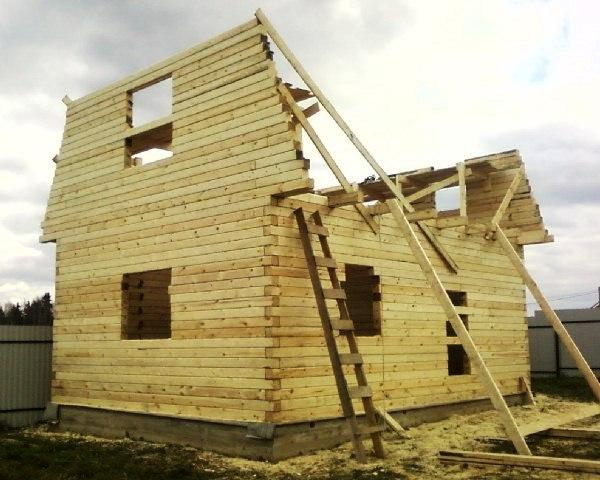 Строительство дома из бруса 6 на 6 своими руками цена